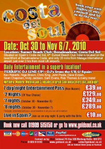 Costa del soul - the best soul music at sunset beach club