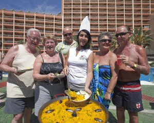 how to make a paella at sunset beach club