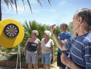 playing darts at sunset beach club