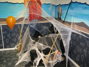 Halloween Decorations in the Kids Club