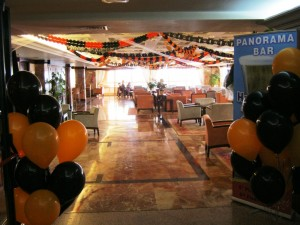 Halloween decorations in the Panorama Bar