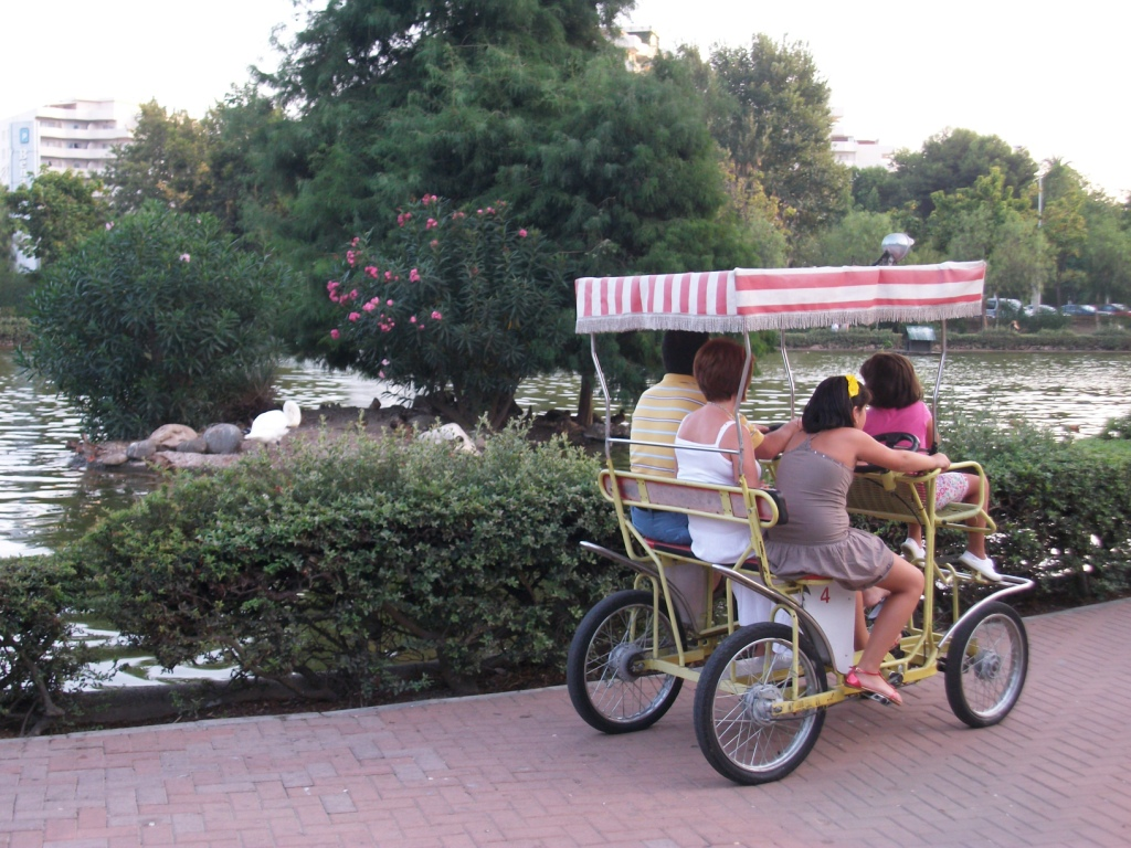 Quadricycles at Parque de la Paloma Benalmadena