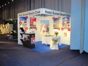 Sunset Beach Club stand at Copenhagen Wedding Show