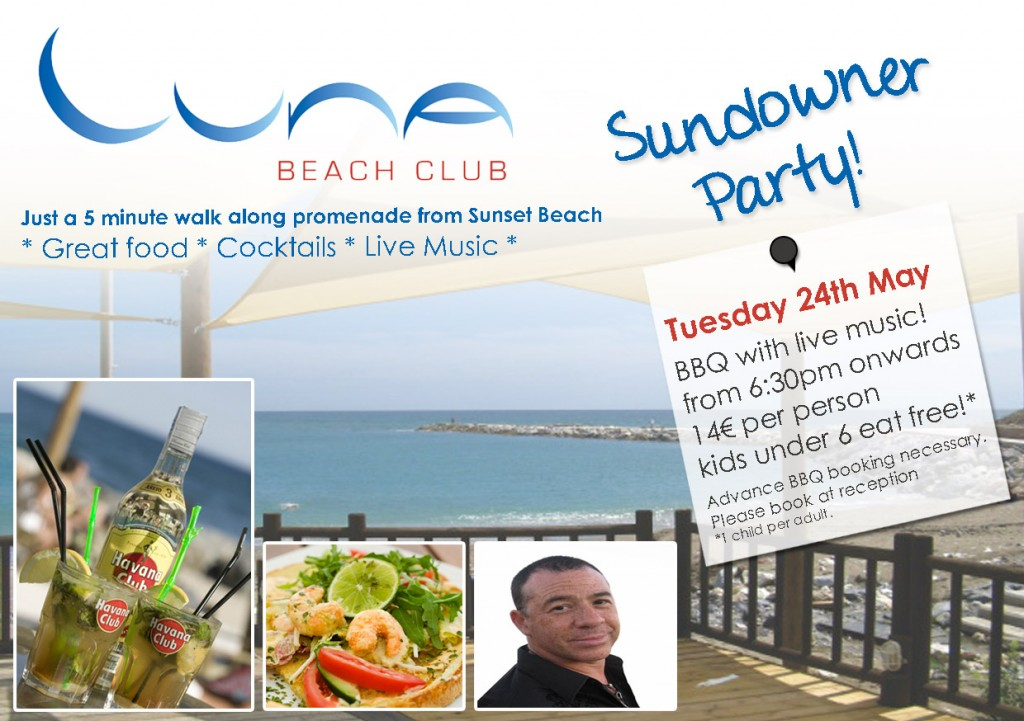 Sundowner Party at Luna Beach Club