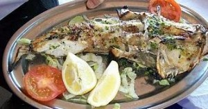 Grilled fish from the BBQ