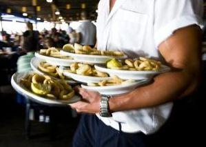 Waiter with Food at El Tintero