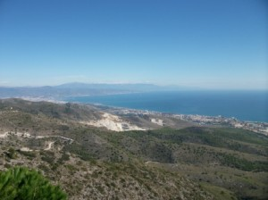 The Views towards Málaga from the top of Benalmadena