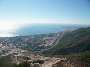 The views from the top of Benalmadena...