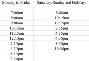 Bus Timetable Malaga airport to Benalmadena