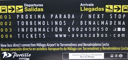 Bus from Benalmadena to Malaga Airport
