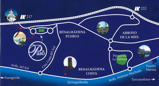 Map to get to 'Passion of Christ' play in Benalmadena