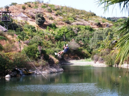 Zip line at Selwo Aventura in Estepona