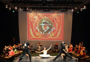 16 musicians and dancers perform in this Tango Show