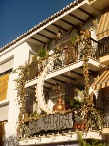Balcon decorado en Guaro