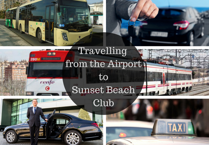 How to get from the airport to Sunset Beach Club