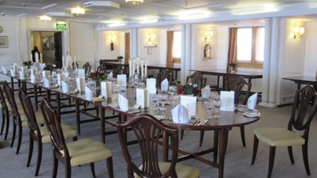 Dining room on HMS Britannia