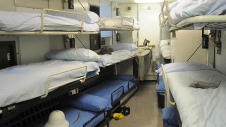 Crew's cabins on HMS Britannia