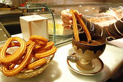 Churros with sugar