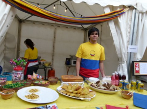 Delicious looking food at the Colombian Stand last year...