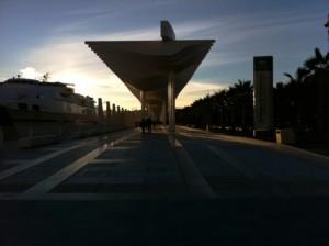 The new ferry terminal of  El Palmeral