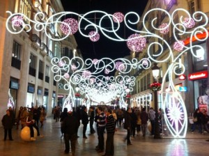 Christmas lights in Calle Larios...