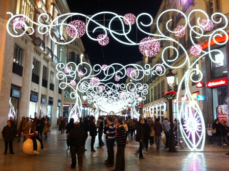 Christmas decorations in Malaga