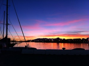 Spectacular Sunset @ Muelle Uno...