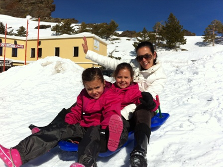 Tobogganing in Sierra Nevada