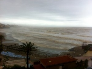 Rainy day in Benalmadena