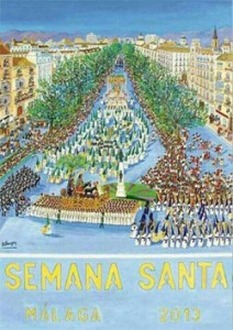 Malaga Easter Processions Poster for 2013