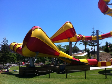 The crazy cones ride at Aqualand in Torremolinos