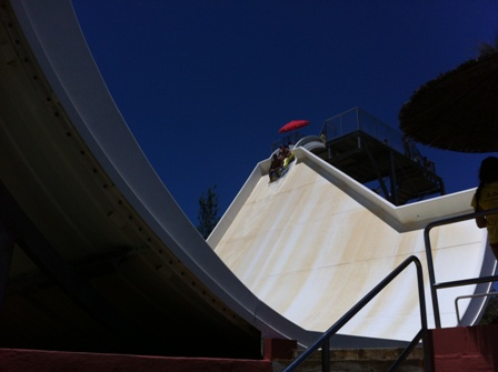 Photo of the Boomerand water slide at Aqualand in Torremolinos