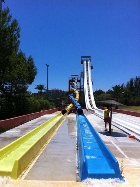Twister slide at Aqualand in Torremolinos