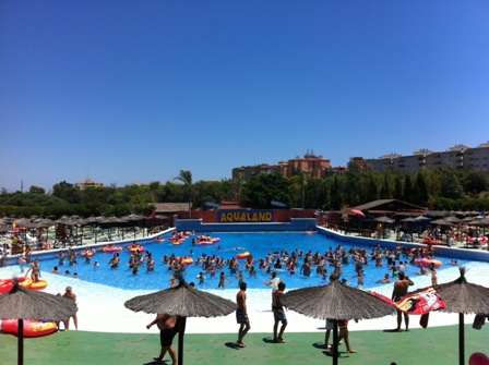 Photo of the Surf Beach pool at Aqualand in Torremolinos