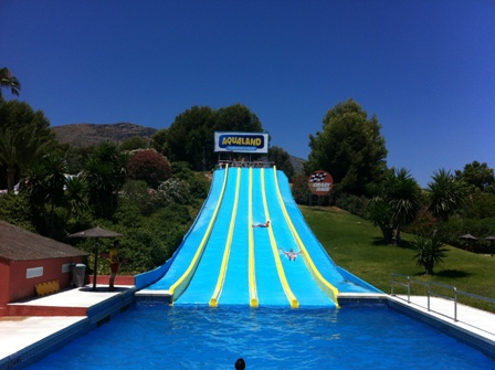 Crazy Race water slide at Aqualand in Torremolinos