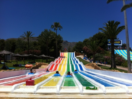 Multipistas slide at Aqualand, Torremolinos
