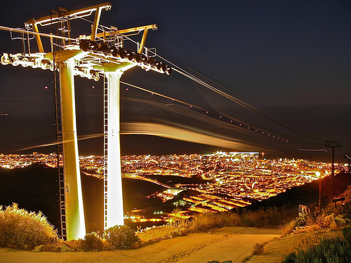 Benalmadena Cable Car at night