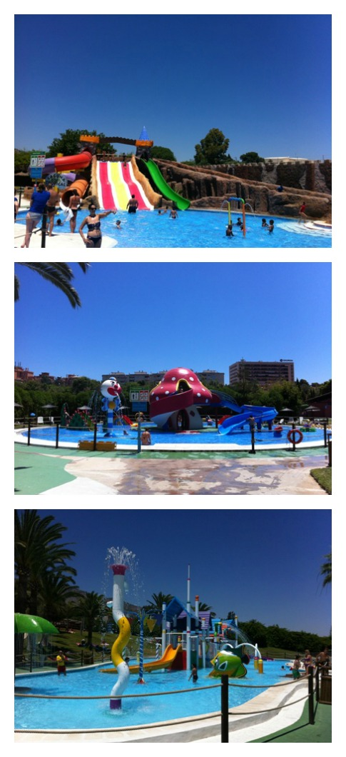 Photo of the kiddies pool areas at Aqualand in Torremolinos