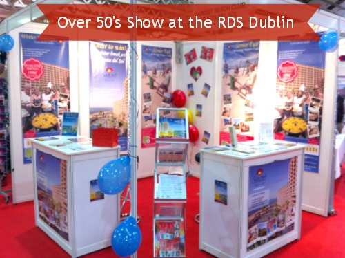 Sunset Beach Club stand at the Over 50s Show in Dublin