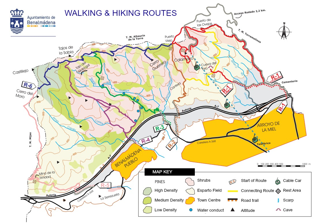 6 of benalmadena's most popular walking and hiking routes [guide