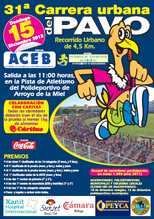 Poster for the Carrera del Pavo (Urban Turkey Race) in Arroyo de la Miel, Benalmadena