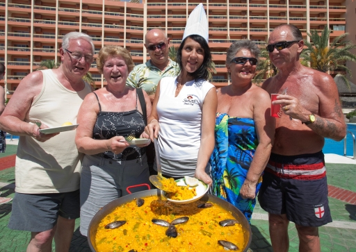 Making a Paella at Sunset Beach Club