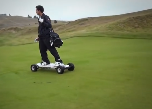 Golfboard flying down the fairway