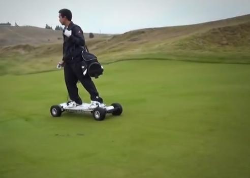 Golfboard flying down the fairway