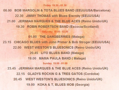 Performers at the Mijas Blues Festival 2014