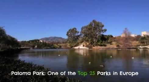 Paloma Park in Benalmadena included in Top 25 parks in Europe