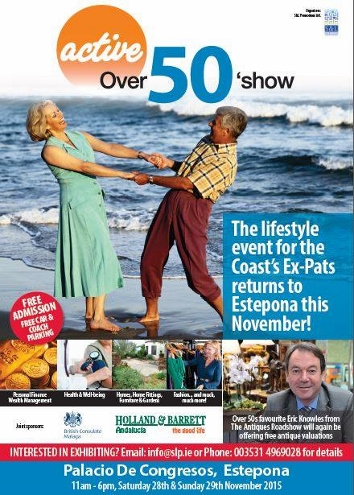 Poster for the Active Over 50s Show in Estepona