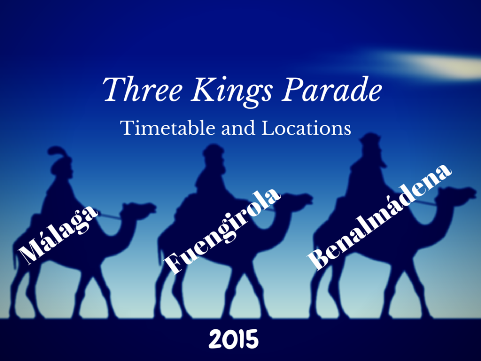 Timetable for Three Kings Parade in Benalmadena, Malaga and Fuengirola