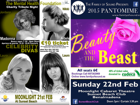 Posters for Musical Weekend for Charity
