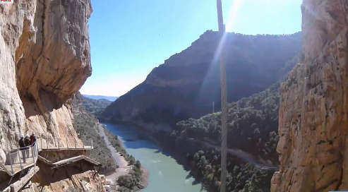 Spectacular views from Caminito del Rey